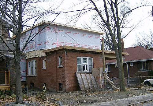 05 Front - Second Floor and Roof framed